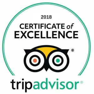 Trip Advisor Certificate of Excellence Royal Copenhagen Inn 2018
